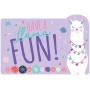 Llama Fun Postcard Invitations Pack of 8