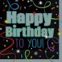 21st Birthday Brilliant Birthday Happy Birthday to You! Beverage Napkins 25cm x 25cm Pack of 16