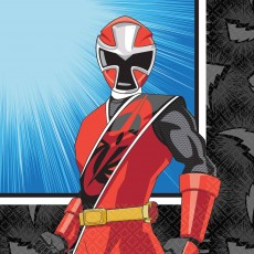 Power Rangers Party Supplies - Beverage Napkins Ninja Steel