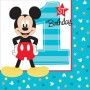 Mickey Mouse 1st Birthday Fun To Be One Beverage Napkins 25cm x 25cm Pack of 16