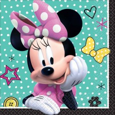Minnie Mouse Happy Helpers Beverage Napkins 25cm x 25cm Pack of 16