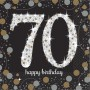 70th Birthday Sparkling Celebration Beverage Napkins Pack of 16