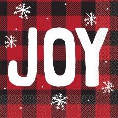 Christmas Cozy Holiday Joy Beverage Napkins 25cm x 25cm Pack of 16