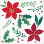 Christmas Party Supplies - Beverage Napkins Christmas Wishes
