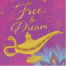 Aladdin Free to Dream Beverage Napkins Pack of 16