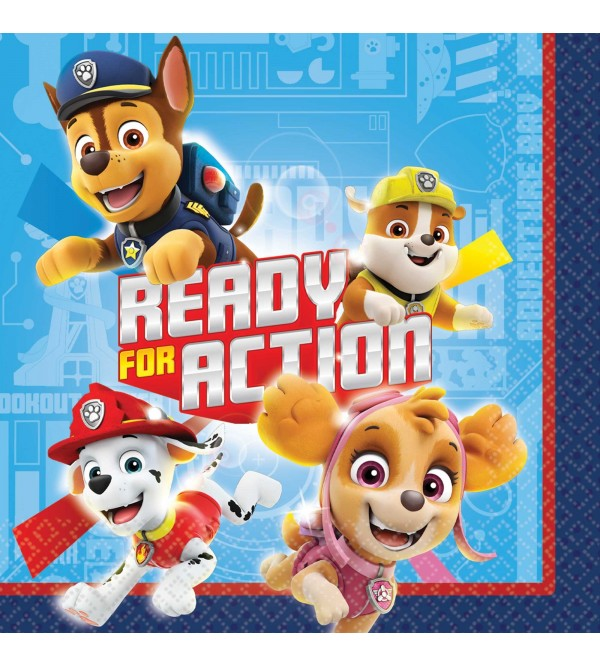 Paw Patrol Adv Beverage Napkins Pack of 16