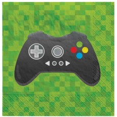Level Up Gaming Party Supplies - Beverage Napkins
