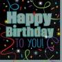 21st Birthday Brilliant Birthday Happy Birthday to You! Lunch Napkins 33cm x 33cm Pack of 16