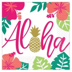 Hawaiian Party Decorations Lunch Napkins