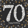 70th Birthday Sparkling Celebration Lunch Napkins Pack of 16