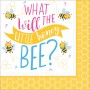 What Will It Bee? Lunch Napkins 33cm x 33cm Pack of 16