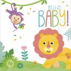 Fisher Price Hello Baby Lunch Napkins Pack of 16