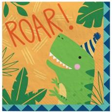 Dinosaur Party Supplies - Lunch Napkins Dino-Mite Roar!