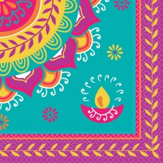 Diwali Lunch Napkins Pack of 16