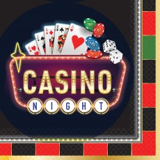 Casino Party Decorations Roll The Dice Lunch Napkins