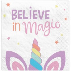 Unicorn Fantasy Party Supplies - Lunch Napkins Unicorn Party
