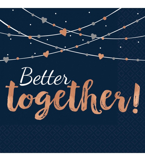 Bridal Shower Navy Bride Better Together! Lunch Napkins Pack of 16