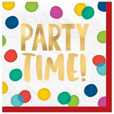 Dots Party Supplies - Lunch Napkins Happy Dots Party Time!