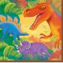 Prehistoric Dinosaurs Lunch Napkins 33cm x 33cm Pack of 16