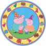 Round Peppa Pig Lunch Plates 17cm Pack of 8