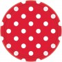 Round Apple Red with White Dots Lunch Plates 17cm Pack of 8