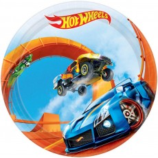 Round Hot Wheels Wild Racer Lunch Plates 17cm Pack of 8