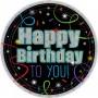Round 21st Birthday Brilliant Birthday Happy Birthday to You! Lunch Plates 17cm Pack of 8