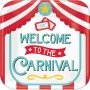 Square Disney Mickey Carnival Welcome To The Carnival Lunch Plates 8pk
