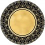 Glitz & Glam Lunch Plates 18cm Black & Gold Pack of 8