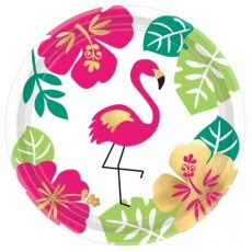 Hawaiian Party Decorations Lunch Plates