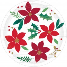 Round Christmas Wishes Lunch Plates Pack of 8
