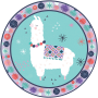 Round Llama Fun Lunch Plates 17.7cm Pack of 8