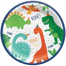 Dinosaur Party Supplies - Lunch Plates Dino-Mite