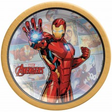 Avengers Party Supplies - Lunch Plates Marvel Powers Unite Iron Man