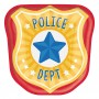 First Responders Party Supplies - Lunch Plates Police Badge Shaped