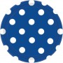 Round Bright Royal Blue with White Dots Dinner Plates 23cm Pack of 8