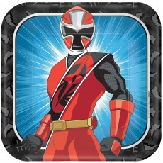 Power Rangers Party Supplies - Dinner Plates Ninja Steel