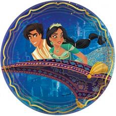 Round Aladdin Metallic Dinner Plates 23cm Pack of 8
