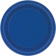 Round Bright Royal Blue Prismatic Dinner Plates 21cm Pack of 8