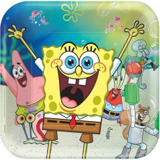 SpongeBob Party Supplies - Dinner Plates