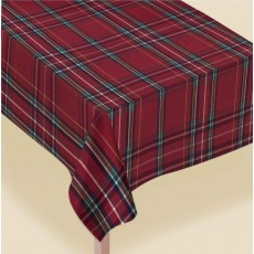 Christmas Theme Luxury Plaid Fabric Table Cover 1.5m x 2.6m