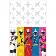 Power Rangers Party Supplies - Plastic Table Cover Ninja Steel