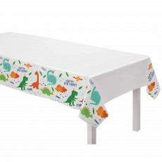Dinosaur Party Supplies - Plastic Table Cover Dino-Mite