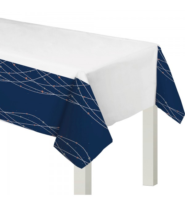 Bridal Shower Navy Bride Plastic Table Cover 137cm x 259cm