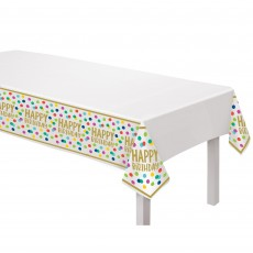 Dots Party Supplies - Plastic Table Cover Happy Dots