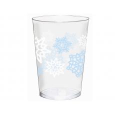 Christmas Snowflakes Tumblers Plastic Glasses 295ml Pack of 40