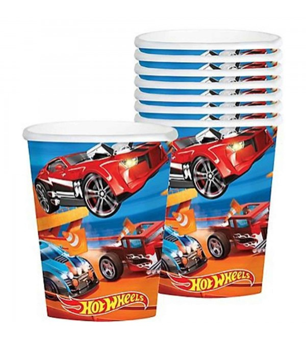 Hot Wheels Wild Racer Paper Cups 266ml Pack of 8