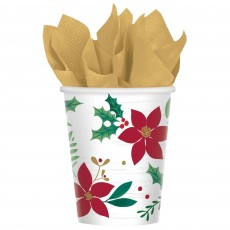 Christmas Party Supplies - Paper Cups Christmas Wishes