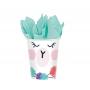 Llama Fun Paper Cups 266ml Pack of 8