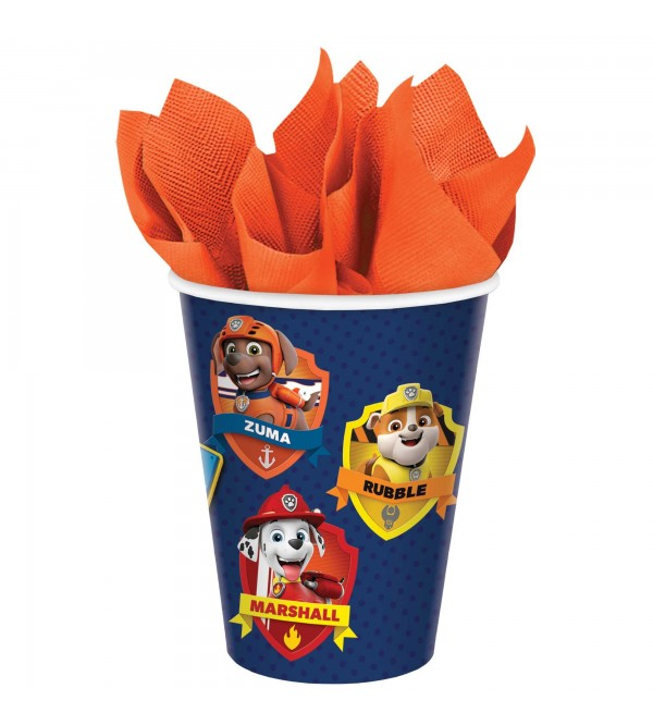 Paw Patrol Adv Paper Cups 266ml Pack of 8